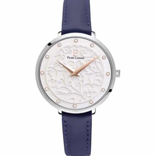 PIERRE LANNIER Eolia Crystals Blue Leather Strap a8873651965