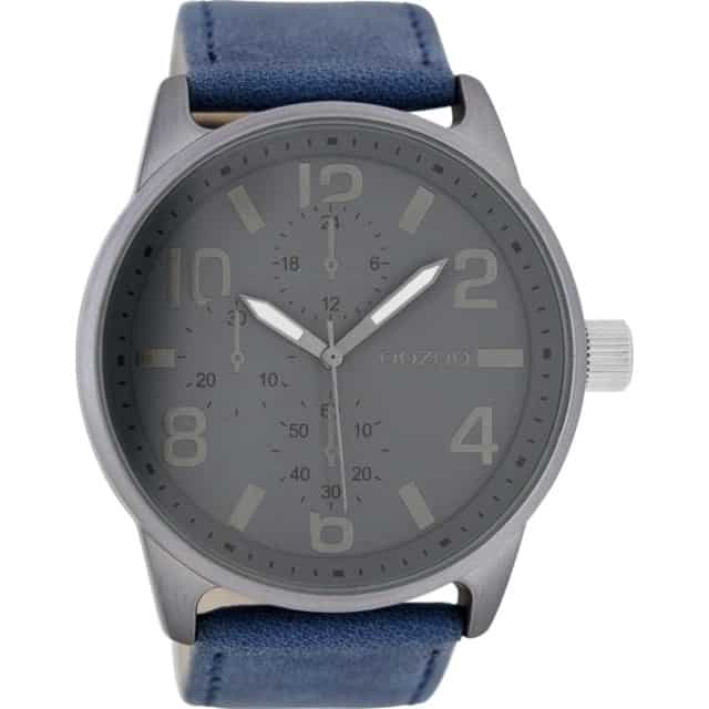 Κούρτης Ρολόι-Κόσμημα - OOZOO Timepieces XXL Blue Leather Strap 717b6d240a8