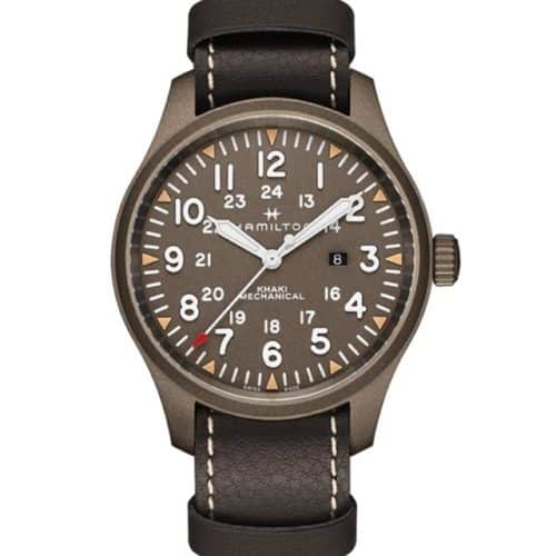 HAMILTON Khaki Field Mechanical Limited Edition Brown Leather Strap 128454f88a6