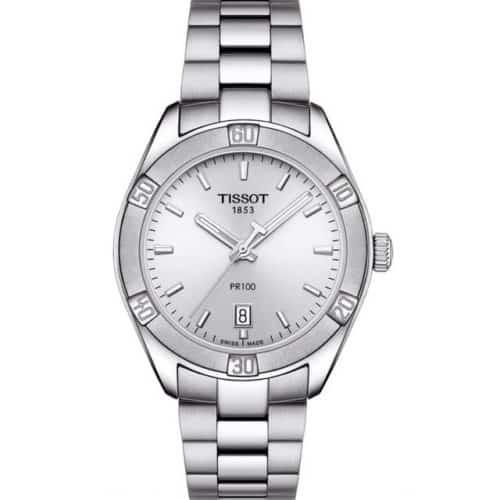 36dfce76b802 TISSOT T-Classic PR100 Silver Stainless Steel Bracelet