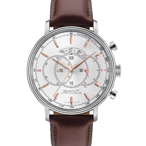 ec2dd6bede28 GANT Cameron Chronograph Brown Leather Strap