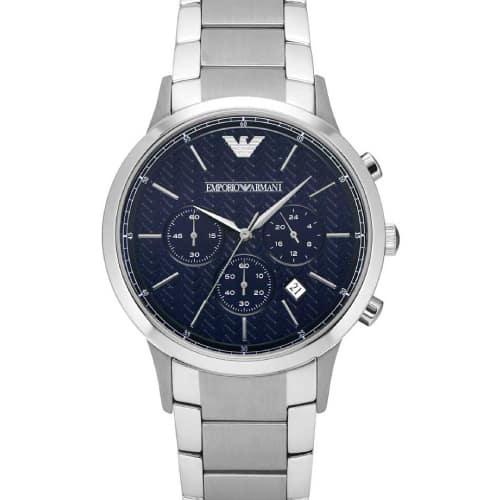 bc34ecd3f6 Emporio Armani Chronograph Stainless Steel Bracelet