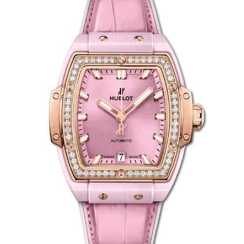 5e0edfa73566 Hublot Spirit Of Big Bang Pink Ceramic King Gold Diamonds